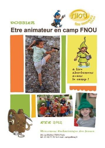 dossier animateur FNOU 2013 - MEJ