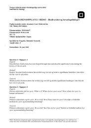 EKSAMENSOPPGAVE I BI2043 – Biodiversitet ... - Institutt for biologi