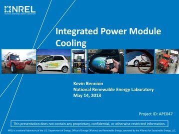 Integrated Power Module Cooling - Department of Energy - U.S. ...