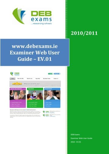 www.debexams.ie Examiner Web User Guide – EV.01