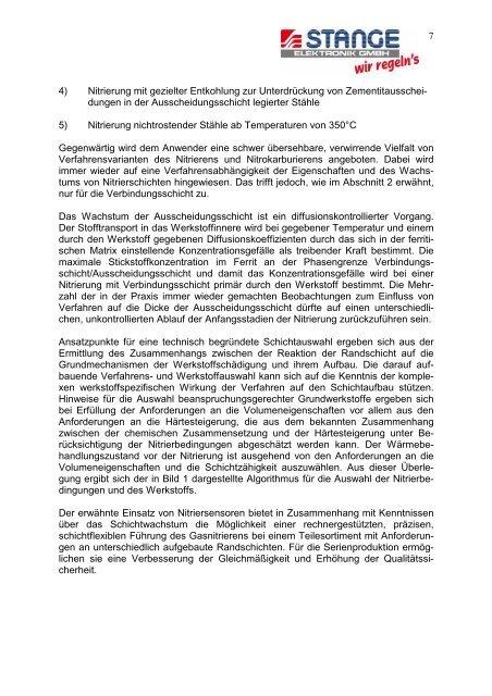 Kontrolliertes Gasnitrieren von Eisenwerkstoffen - Stange Elektronik ...
