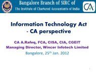 Information Technology Act - CA perspective