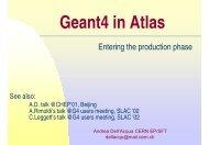 Geant4 in Atlas - CERN