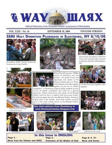 09/28/08 - Ukrainian Catholic Archeparchy of Philadelphia