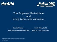 The Employer Marketplace - Long Term Care Insurance