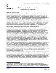 Politique sur la diffusion des données et le ... - Genome Canada