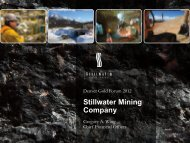 Stillwater Mining Company - gowebcasting