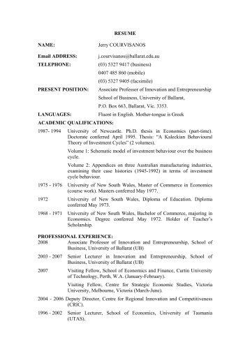 resume email address