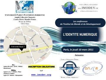 L'IDENTITE NUMERIQUE Paris, le jeudi 10 mars 2011 Les ... - Imodev