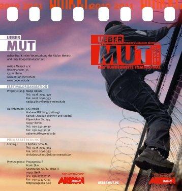 ueberMUT – Das bundesweite Filmfestival 2010/2011 - Aktion Mensch