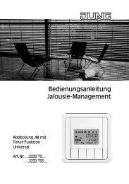 Bedienungsanleitung Jalousie-Management - Jungiberica.net
