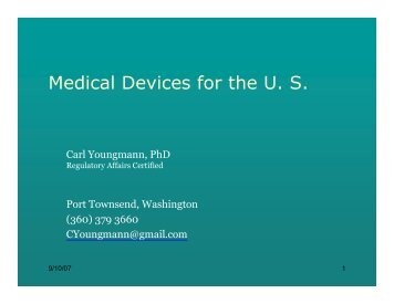 Medical Devices for the U. S. - Life Sciences