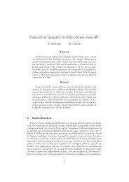 Capacité et inégalité de Faber-Krahn dans Rn - Université de ...