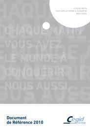 Document de Référence 2010 - Paper Audit & Conseil