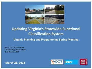 Updating Virginia's Statewide Functional Classification System