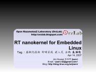RT nanokernel for Embedded Linux