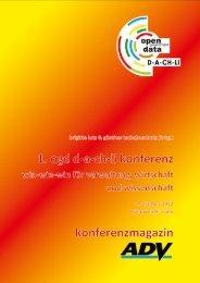 Open Government Data - OGD D-A-CH-LI Konferenz - ADV