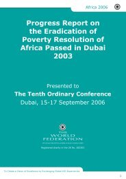 Eradication of Poverty Report - The World Federation of KSIMC