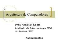 Arquitetura de Computadores - Instituto de Informática - UFG
