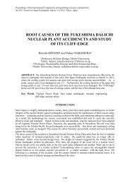 Root causes of the fukushima dai-ichi nuclear