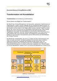 Transformation mit Konstellation - Institut Innere Form