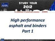 High performance asphalt and binders Part 1 - Aapaq.org
