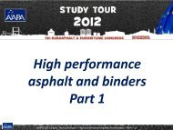 High performance asphalt and binders Part 1 - Aapaq.org