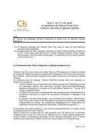 Telecom ParisTech - Commission des Titres d'Ingénieur