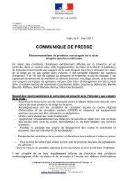 CP n°6 11 mars 22 h 00 - Les services de l'État dans le Calvados