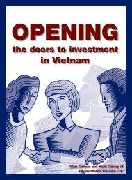 Opening the Doors to Investment in Vietnam - Duane Morris LLP