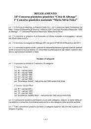"""1° Concorso pianistico nazionale """"Maria Silvia ... - Comune Albenga"""