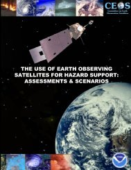 the use of earth observing satellites for hazard support - Inpe