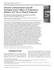 Extrusion of starch-based loose-fill packaging foams - ResearchGate