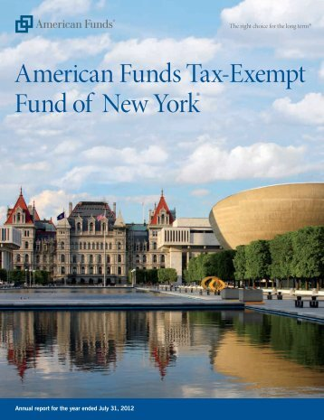 Annual Report-American Funds Tax-Exempt of New York