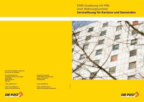 EWID-Zuweisung mit Hilfe einer Wohnungsnummer, Servicelösung ...