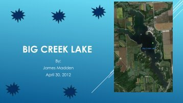 big creek lake - Natural Resource Ecology and Management