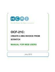 OCF-21C: Creating Invoice from Scratch - HCAI