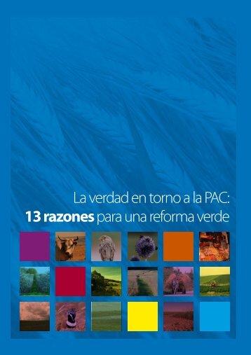 13 razones para una reforma verde - SEO/BirdLife