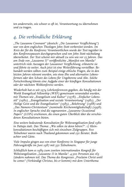 25 Jahre Lausanne - Lausanner Bewegung