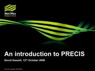 An introduction to PRECIS