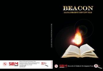 Beacon Manag ement R e vie w 20 1 3 SIBM PUNE - Symbiosis ...