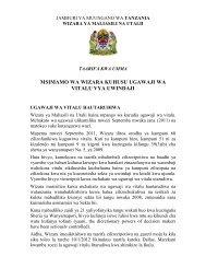 JAMHURI YA MUUNGANO WA TANZANIA - Tanzania Tourist Board