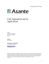 Link Aggregation and its applications - Asante