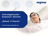 Vortrag von Dr. Peter Ruile (MorphoSys AG) - BIO Deutschland