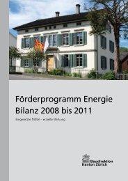 Förderprogramm Energie Bilanz 2008 bis 2011 - MGH