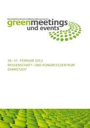 weitere sponsoring-möglichkeiten - Greenmeetings und Events
