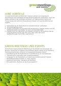 weitere sponsoring-möglichkeiten - Greenmeetings und Events - Page 3