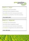 weitere sponsoring-möglichkeiten - Greenmeetings und Events - Page 5