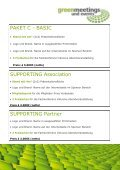 weitere sponsoring-möglichkeiten - Greenmeetings und Events - Page 6