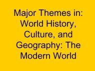 Major Themes in World History